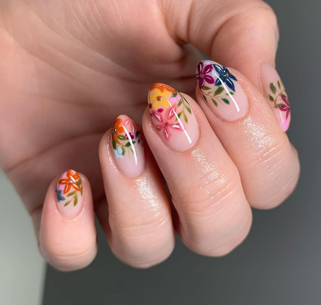 Floral Spring Nails Ideas